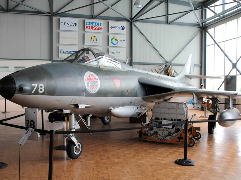 """Clin d'Ailes"", Musée de l'Aviation militaire de Payerne 1 : Hawker Hunter Mk.58"