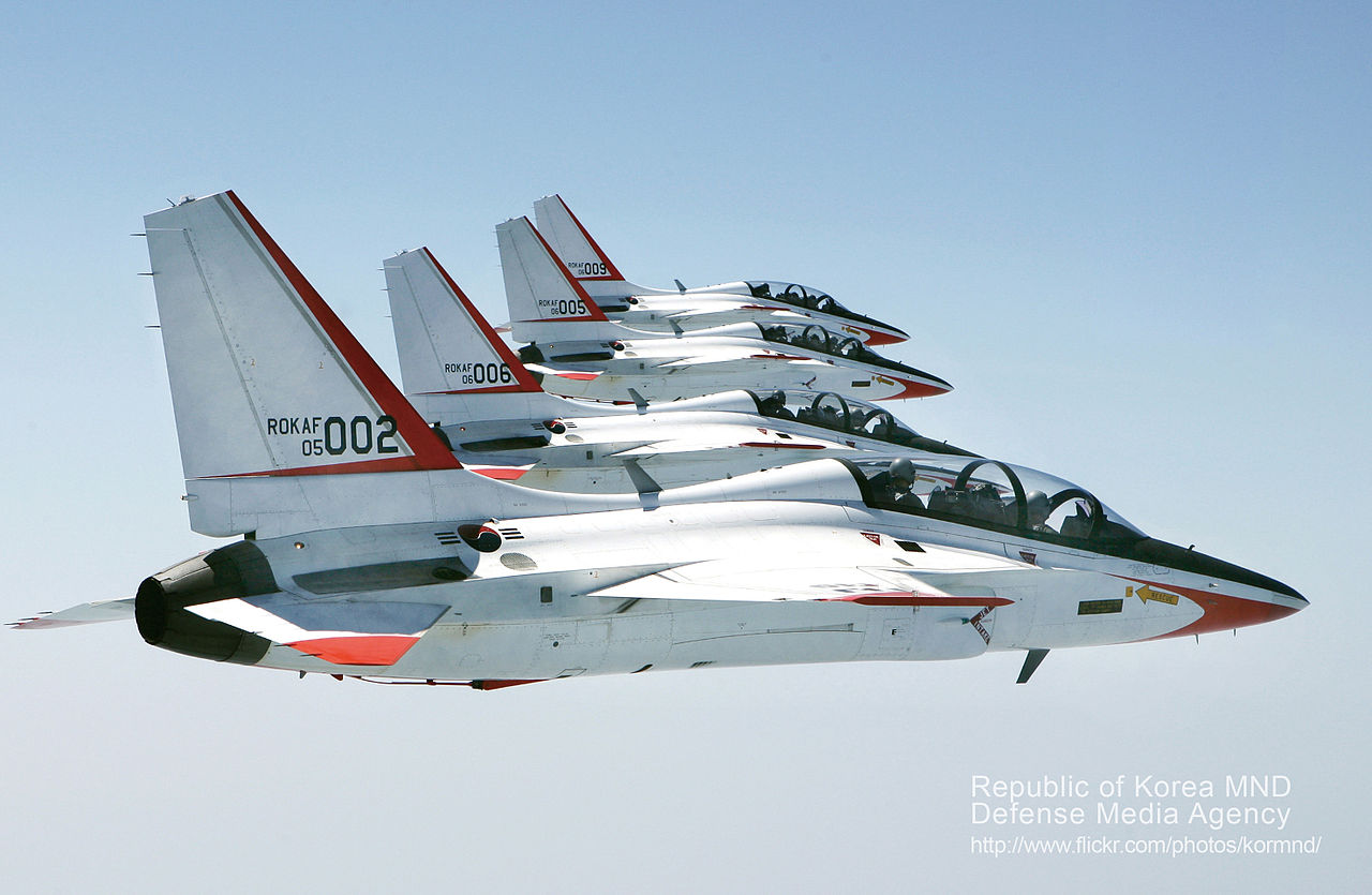 KAI T-50 Golden Eagle en formation