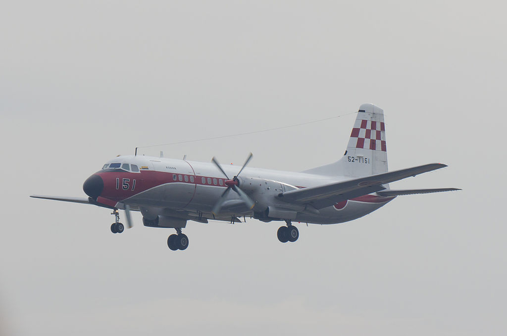 NAMC YS-11FC japonais en vol train sorti