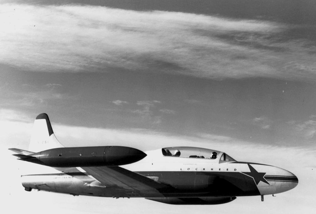 Lockheed T-1 SeaStar - Prototype en vol