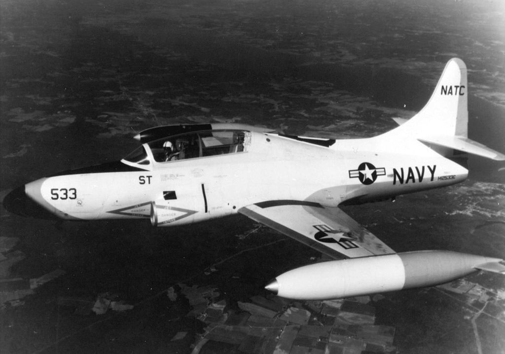 Lockheed T-1A SeaStar en vol