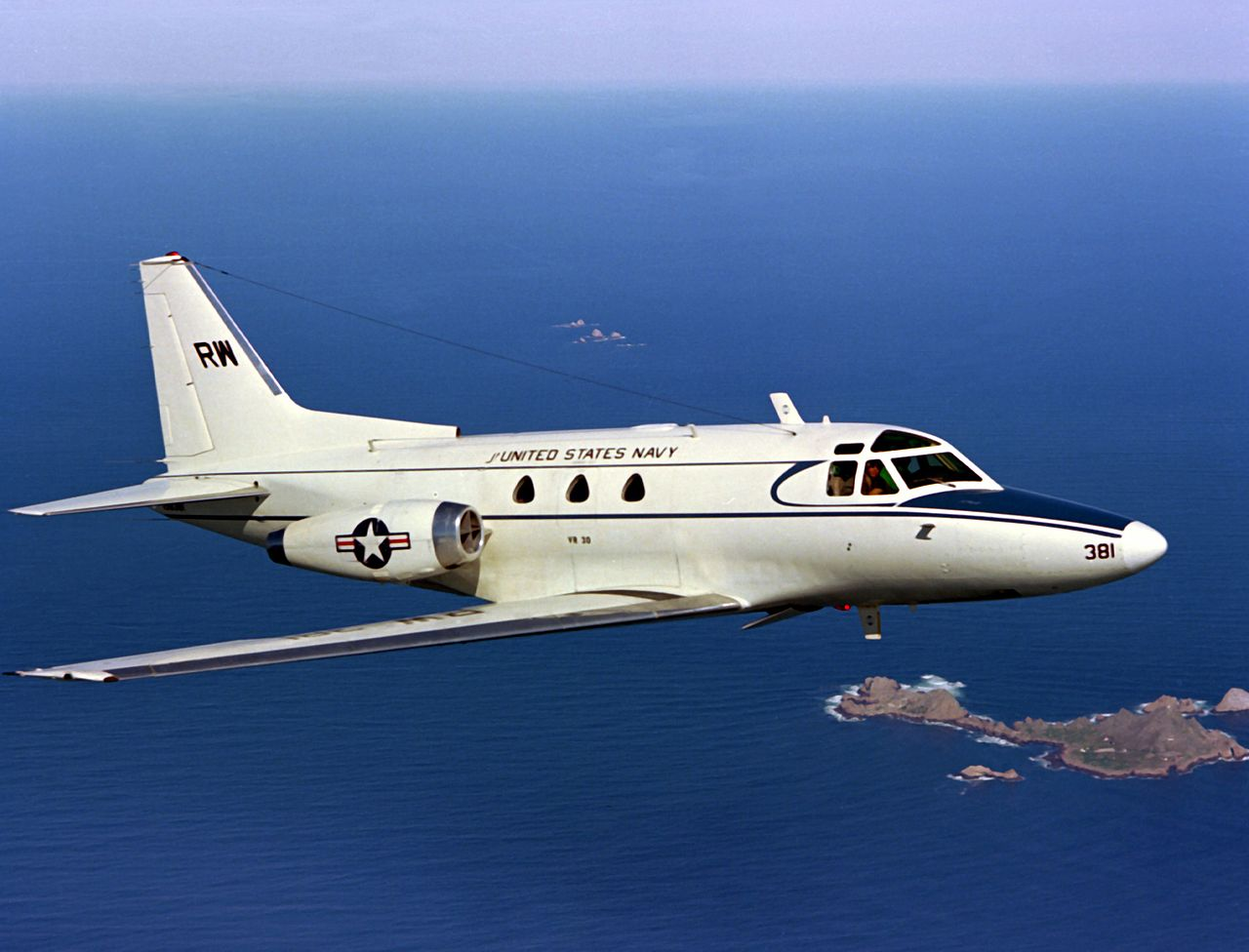 North American Sabreliner (CT-39E) de l'US Navy en vol