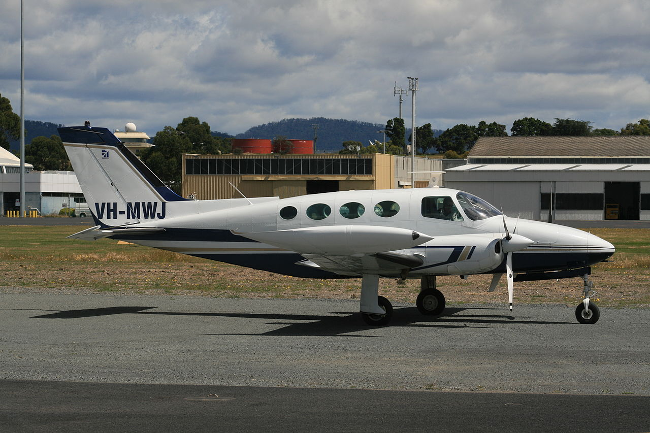 Cessna 411A civil au sol