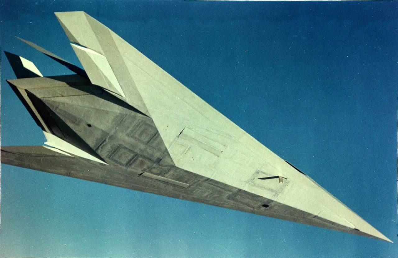 Lockheed F-117 Night Hawk - Prototype Have Blue en vol vu d'en dessous