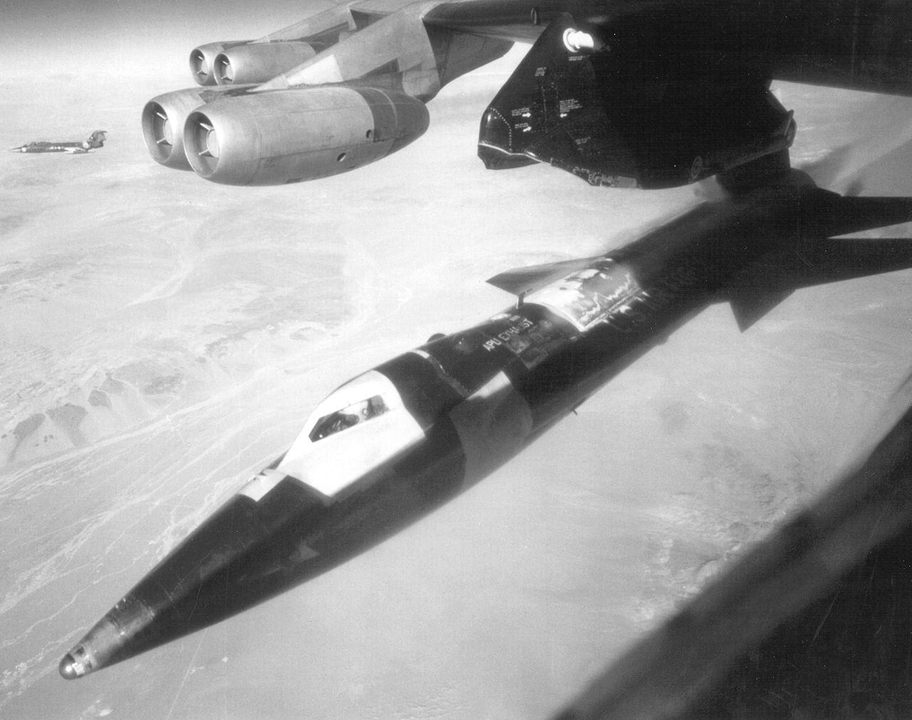 North American X-15 au larguage