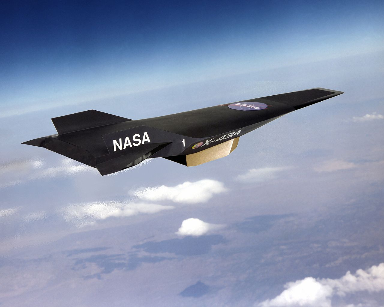 NASA X-43A en vol - Impression d'artiste