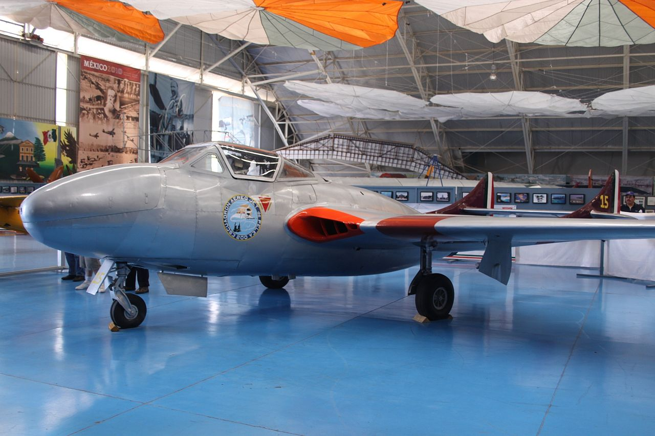 De Havilland DH-115 Vampire T.11 mexicain