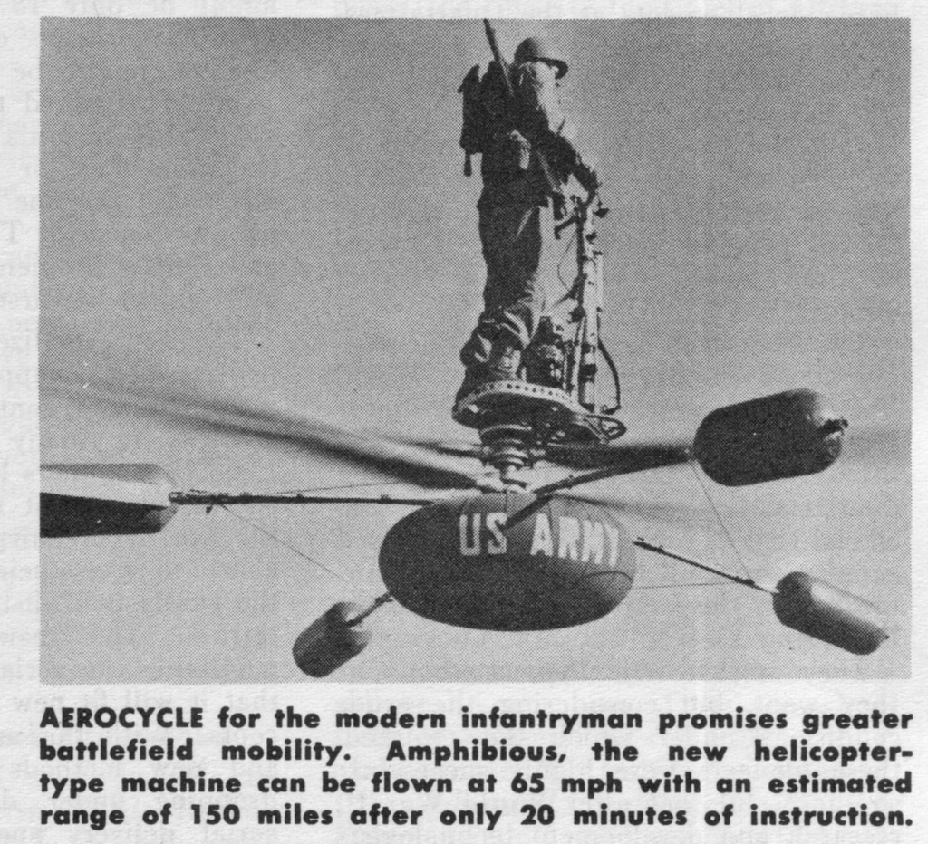 De Lackner HZ-1 Aerocycle en vol