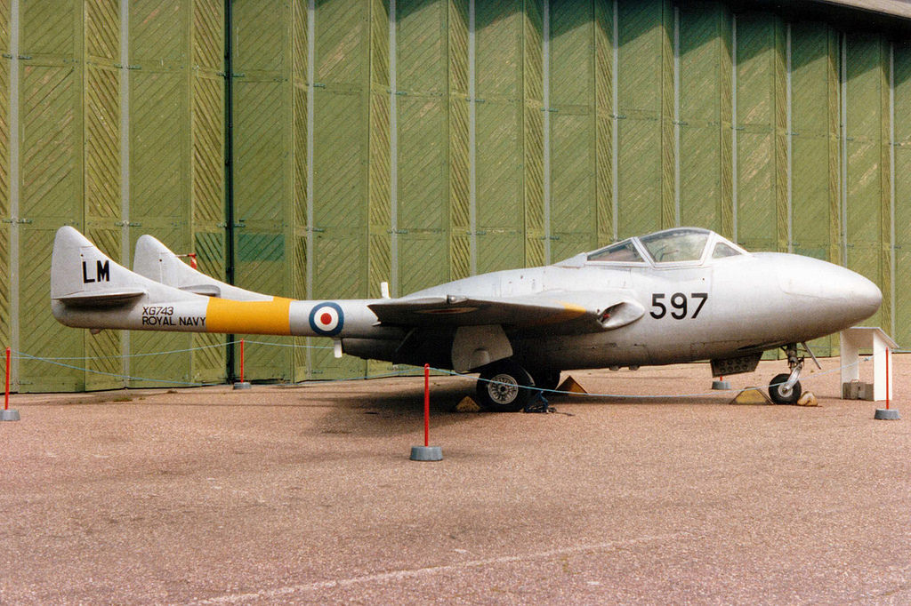 De Havilland DH-115 Sea Vampire T.22 de la Royal Navy
