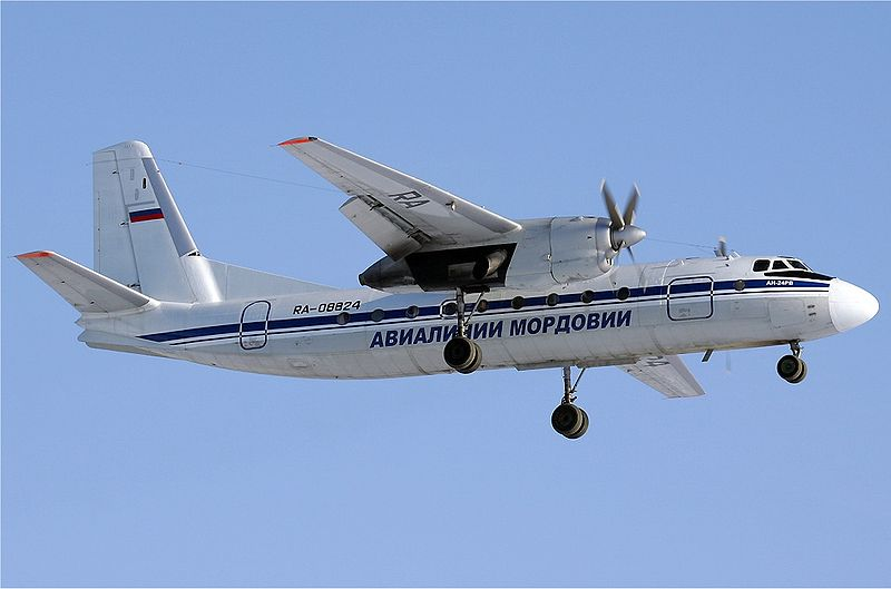Antonov An-24RV civil en vol train sorti