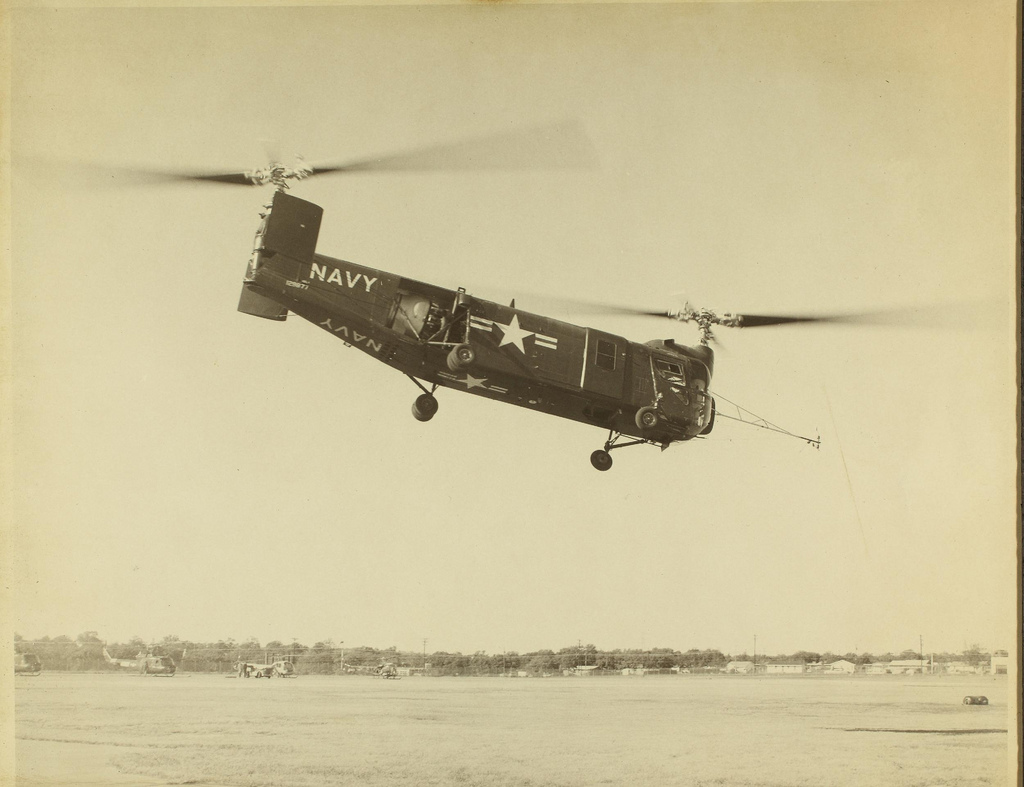 Bell HSL-1 de l'US Navy en vol