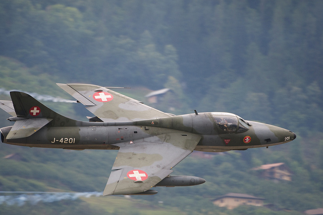 Hawker Hunter T.68 suisse