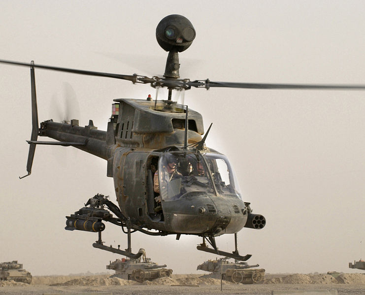 Bell 206 (OH-58D Kiowa Warrior) de l'US Army