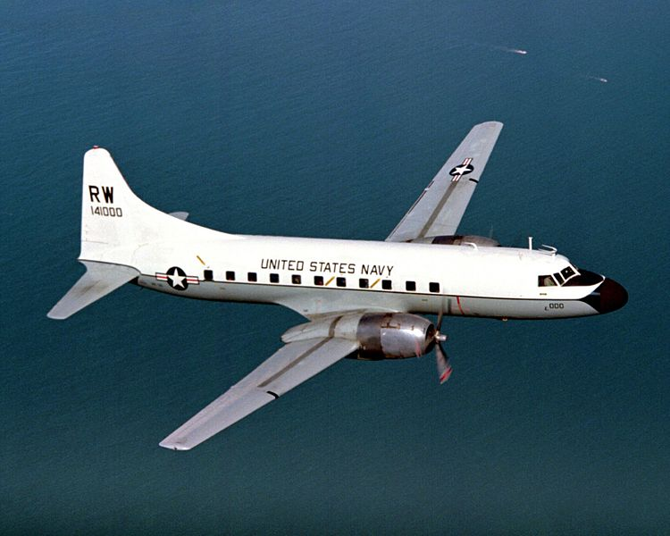 Convair C-131F de l'US Navy en vol