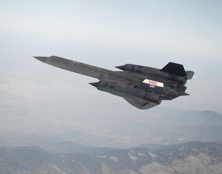 Lockheed SR-71A Blackbird en vol pour la NASA