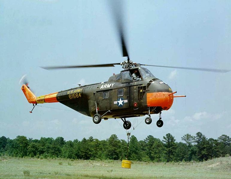 Sikorsky UH-19D Chickasaw de l'US Army en vol