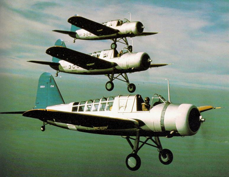 Vought OS2U-1 Kingfisher en vol