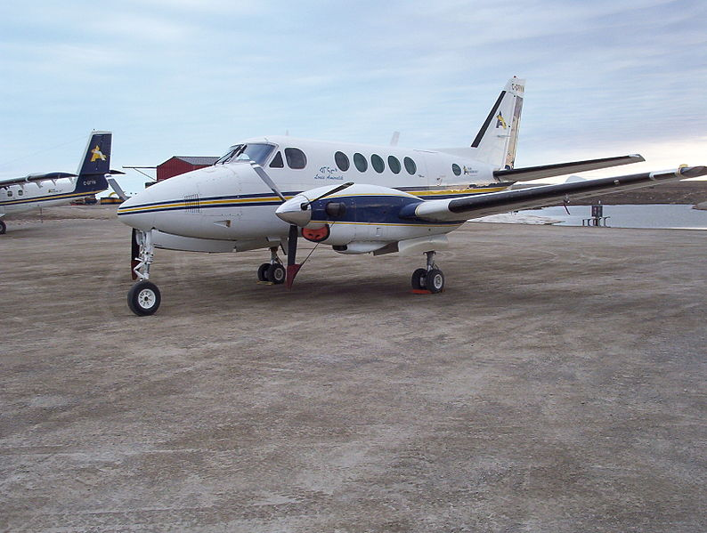 Beech 100 King Air civil au sol
