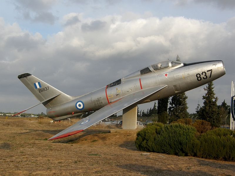 Republic F-84F Thunderstreak grec