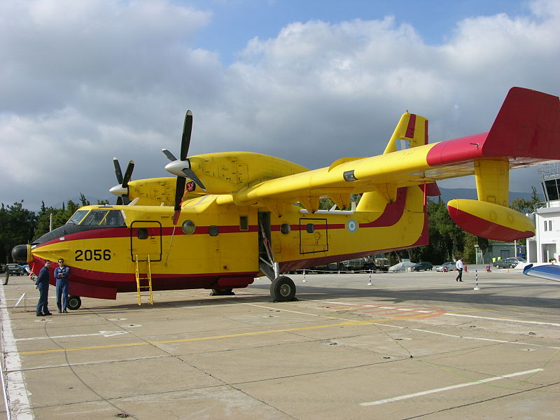 Canadair CL-415MP grec au sol