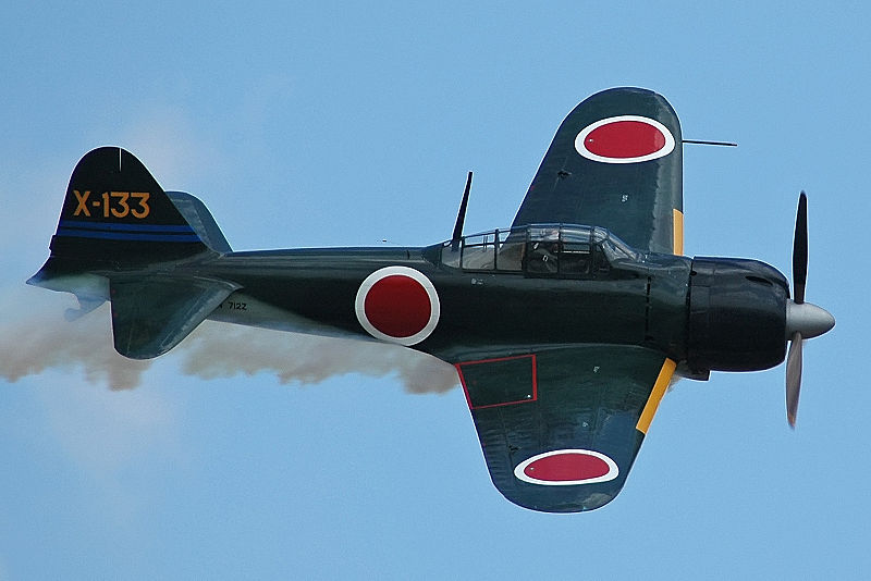 Mitsubishi A6M3 Zero de collection en vol