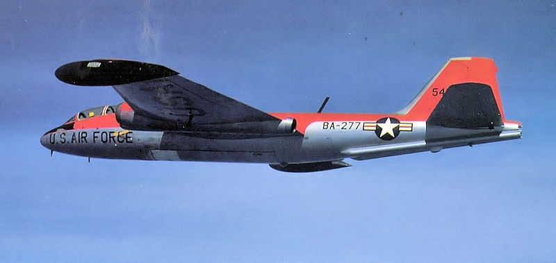 Martin B-57E Night Intruder de l'USAF en vol
