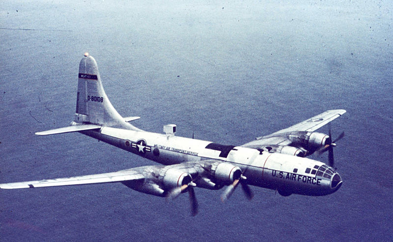 Boeing B-50 Superfortress (WB-50D) de l'USAF en vol