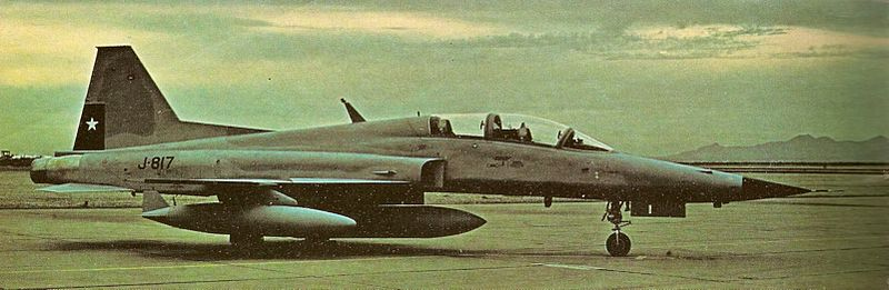 Northrop F-5F Tiger II chilien