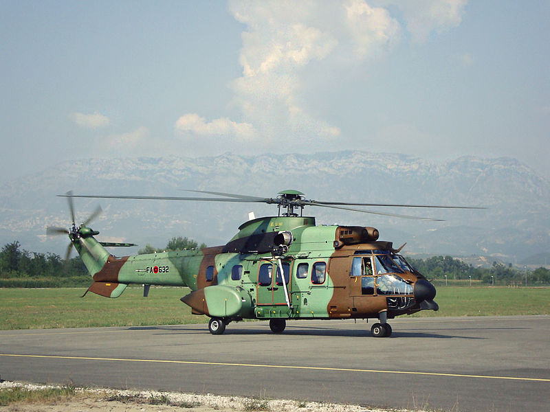 Aérospatiale AS532 AL Cougar albanais
