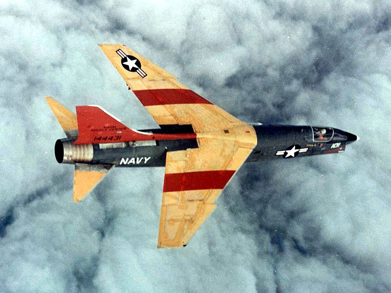 Vought F-8 Crusader (DF-8A) de l'US Navy
