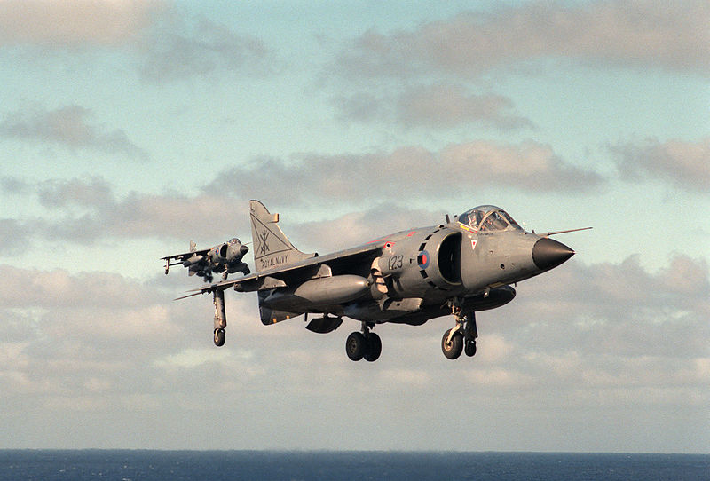 Bae Sea Harrier FRS.1 de la Royal Navy à l'appontage