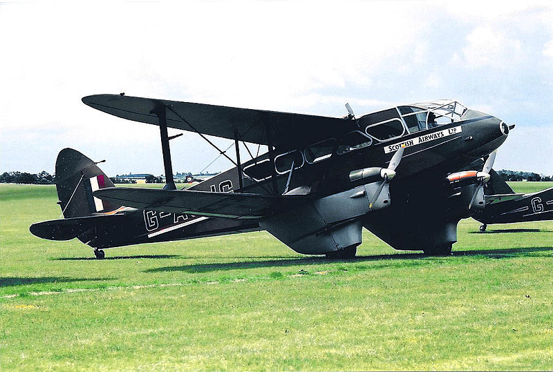 De Havilland DH-89 Dragon rapide noir