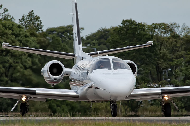 Cessna 551 Citation II/SP civil vu de front