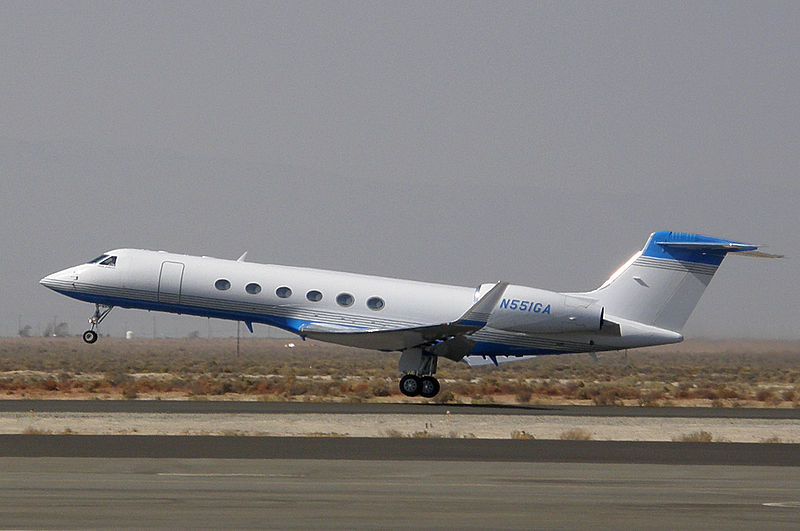 Gulfstream V (G-V) civil au décollage