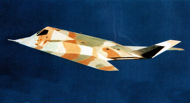 Lockheed F-117A Night Hawk camouflé