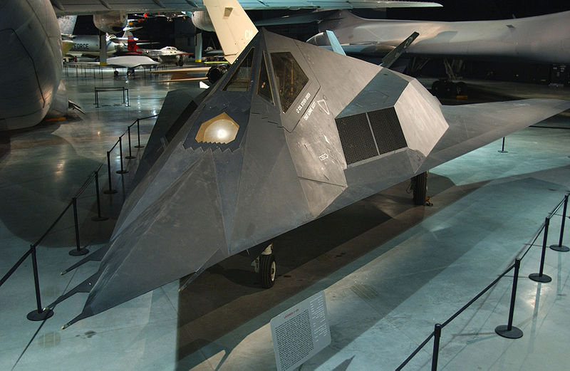 Lockheed F-117A Night Hawk à l'USAF museum