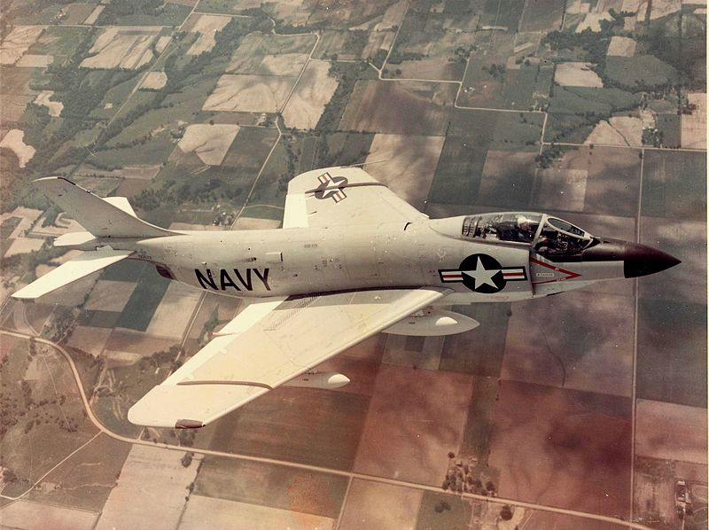 McDonnell F-3 Demon (F3H-2N) de l'US Navy en vol