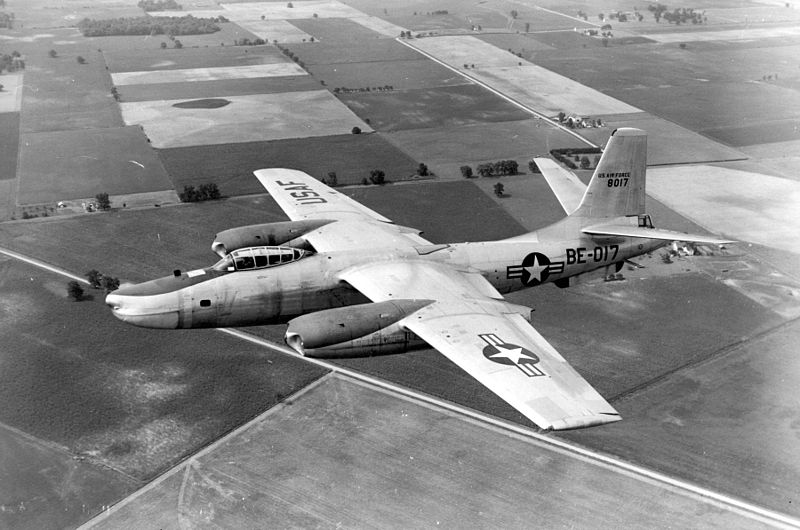 North American B-45 Tornado (RB-45C) de l'USAF en vol