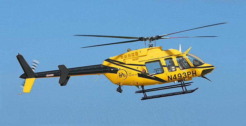 Bell 407 civil en vol