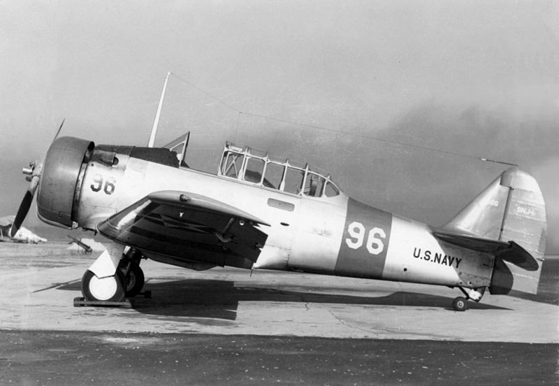 North American T-6 Texan (SNJ-1) de l'US Navy