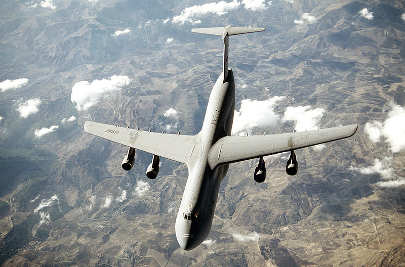Lockheed C-5 Galaxy de l'USAF en vol