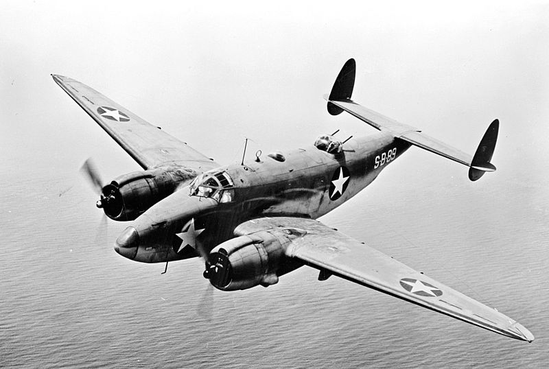 Lockheed Ventura (PV-1) de l'US Navy en vol