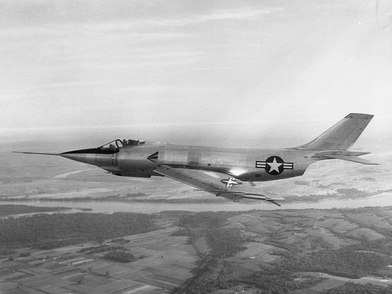 McDonnell F-3 Demon - Prototype XF3H-1 en vol