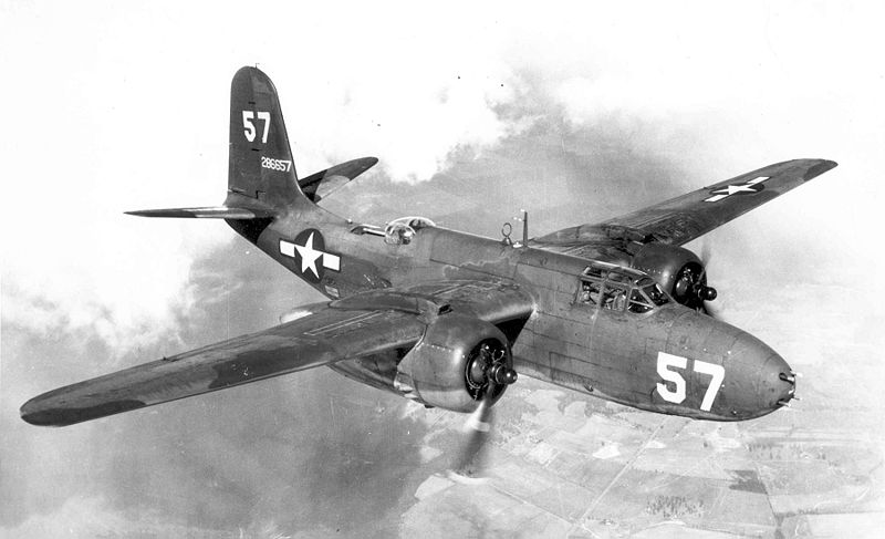 Douglas A-20G Boston de l'USAAF en vol