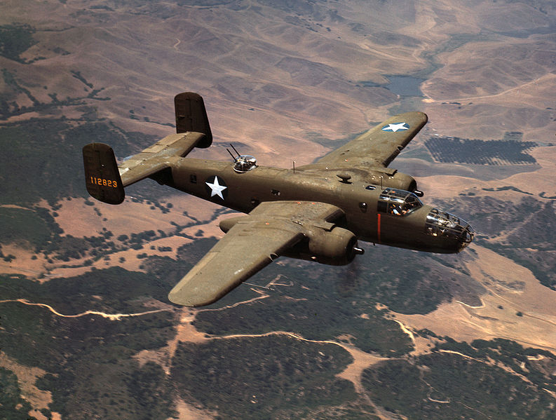 North American B-25C Mitchell de l'USAAF en vol