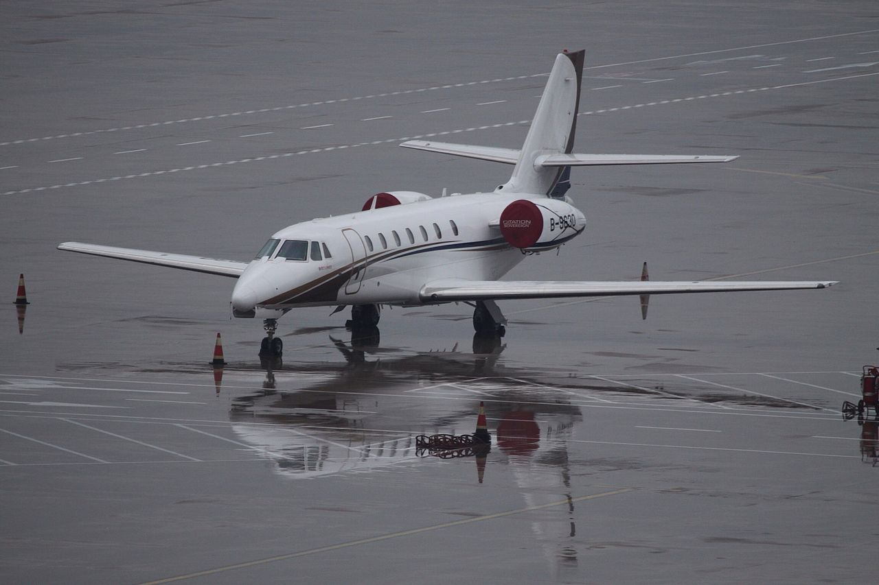 Cessna 680 Citation Sovereign sur le tarmac