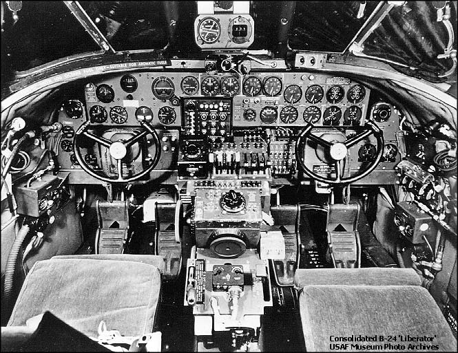Consolidated B-24 Liberator - Cockpit