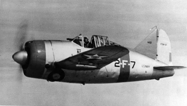 Brewster Buffalo (F2A-2) de l'US Navy en vol