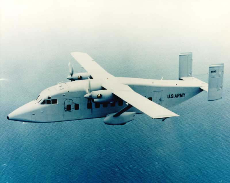 Short SD.3-30 (C-23B Sherpa) de l'US Army en vol