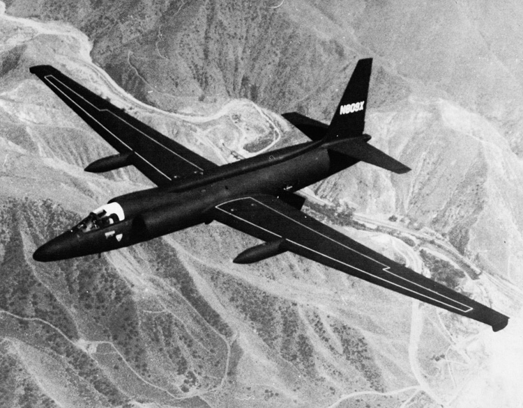 Lockheed U-2 Dragon Lady de la CIA en vol